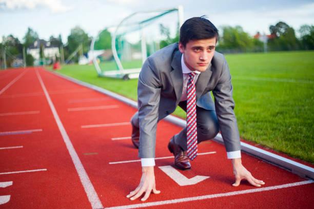 Business Runnig Erfolg Rennstrecke – Foto