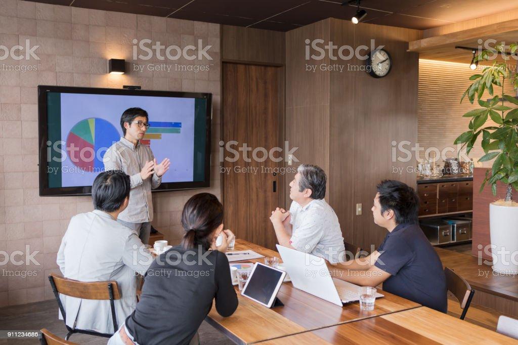ビジネス シーンの会議 ストックフォト