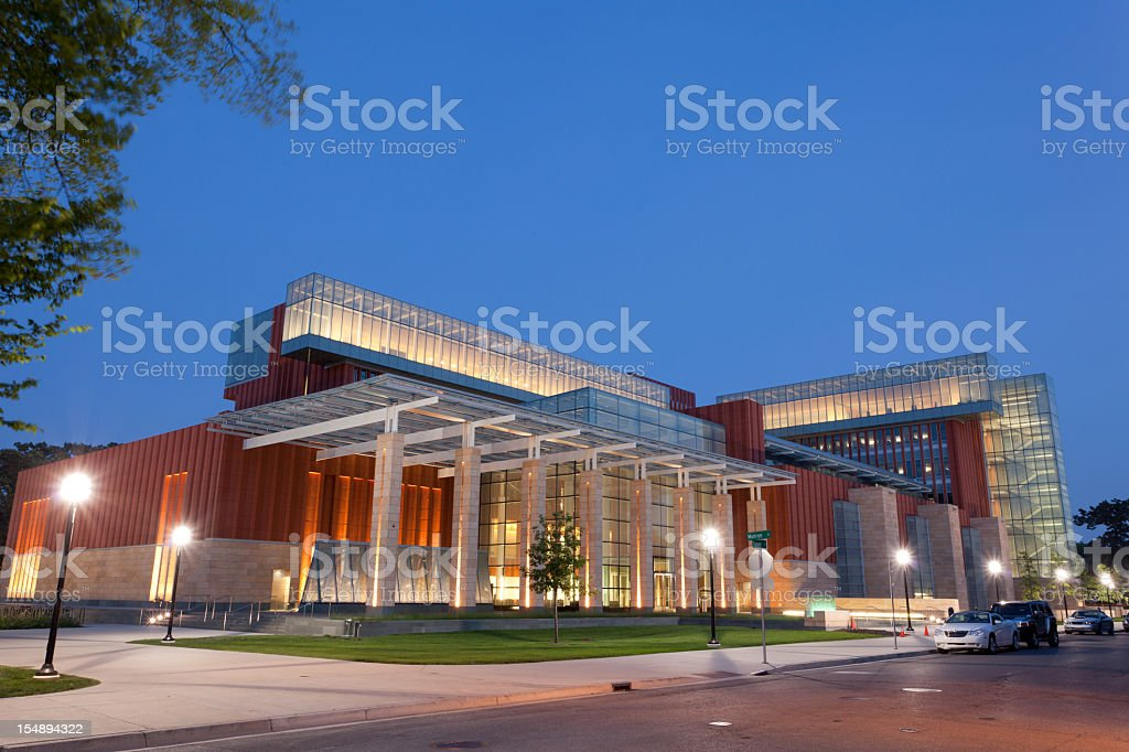 Business school at the University of Michigan in Ann Arbor stock photo