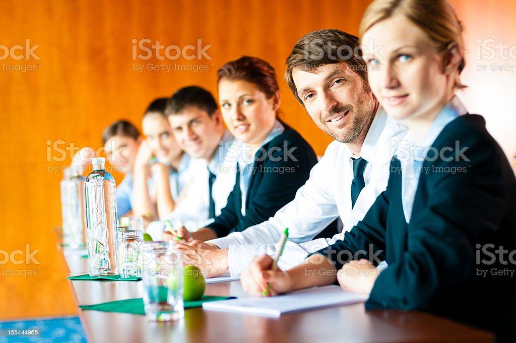 Business School Seminar stock photo