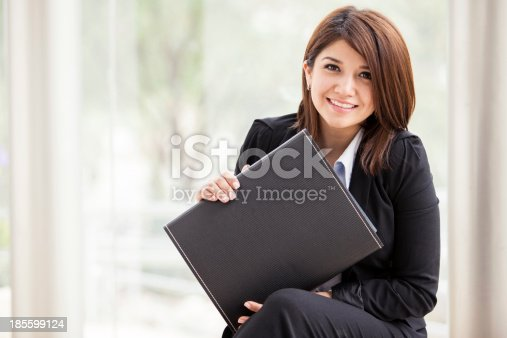 istock Business school student smiling 185599124