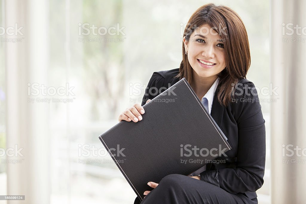 Business school student lächelnd – Foto