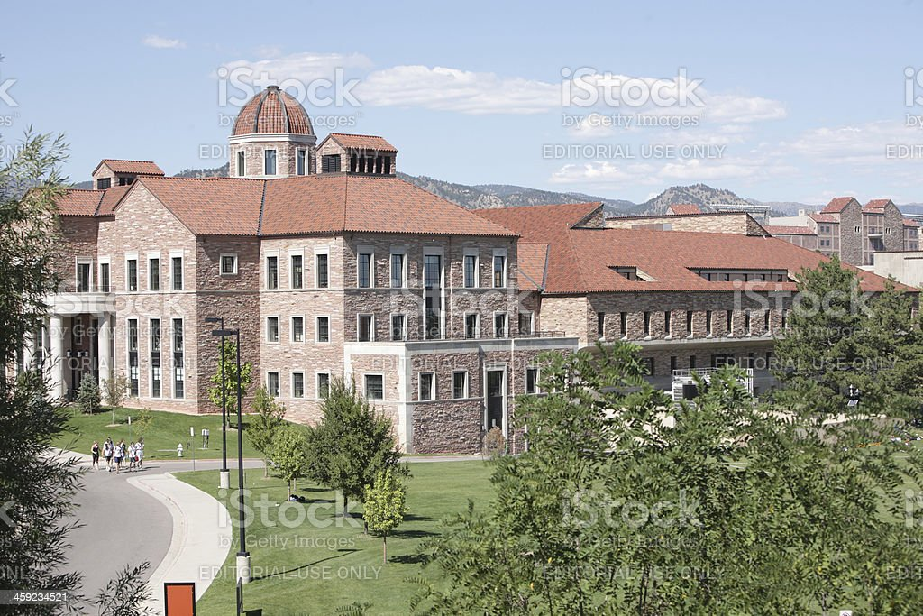 Business school, University of Colorado, Boulder stock photo