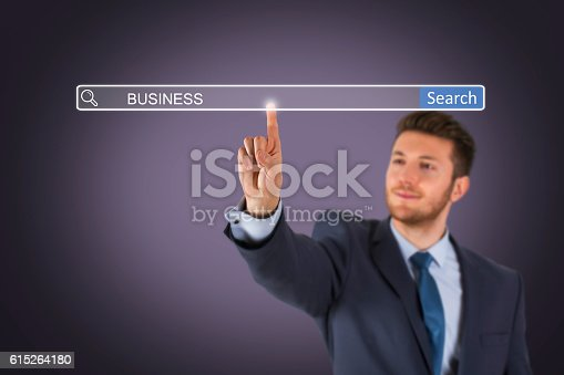 istock Business Search Engine on Touch Screen 615264180