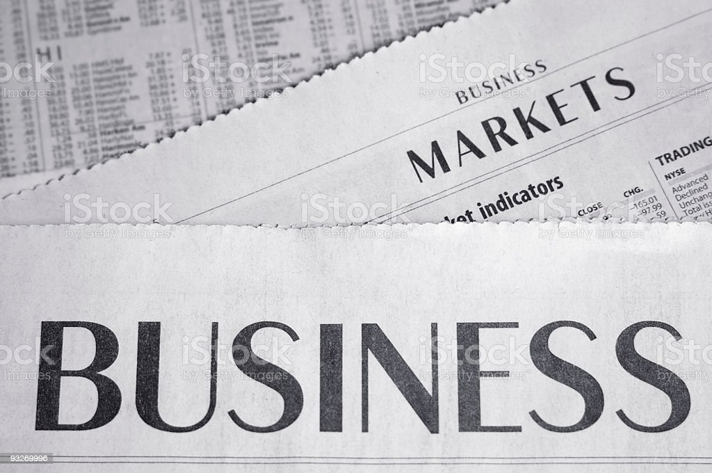 Business Section royalty-free stock photo