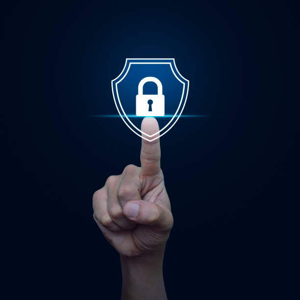 Business security insurance concept stock photo