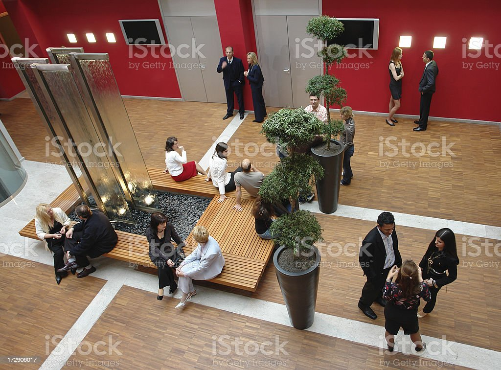 Business Seminar Break royalty-free stock photo