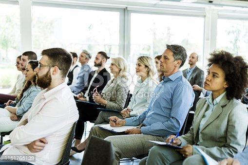istock Business seminar in a board room! 1151765139