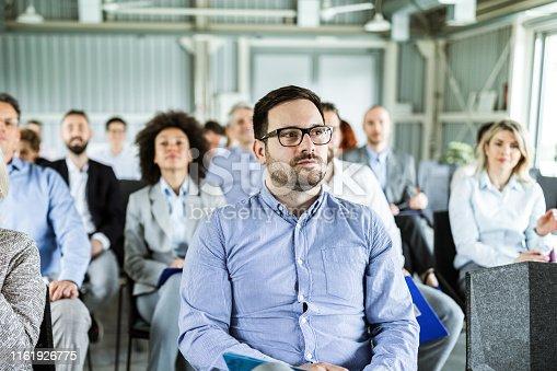 istock Business seminar in a board room! 1161926775