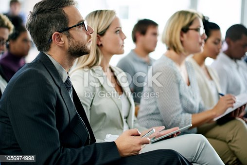 istock Business seminar in progress 1056974998