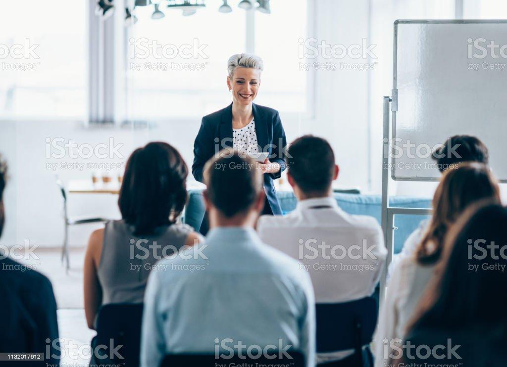 Business seminar - Royalty-free 30-39 Anos Foto de stock