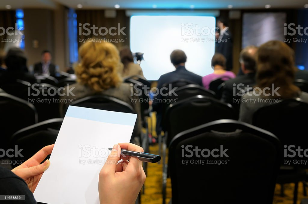 Business seminar. stock photo
