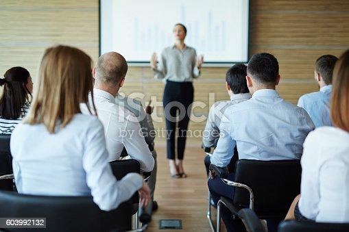 603992132 istock photo Business seminar 603992132