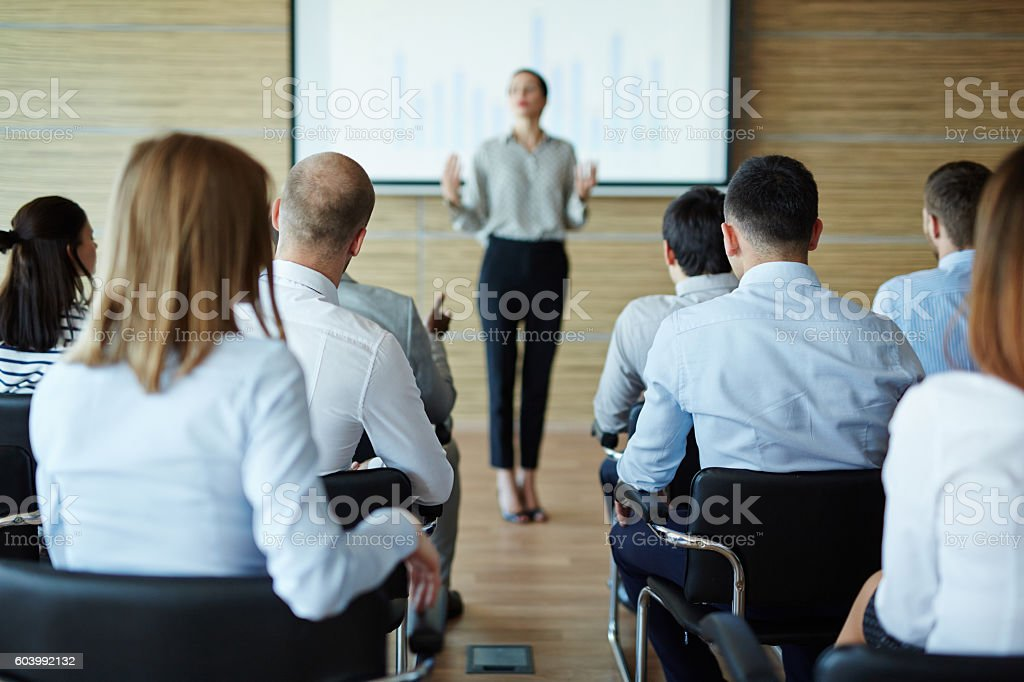 Business seminar stock photo