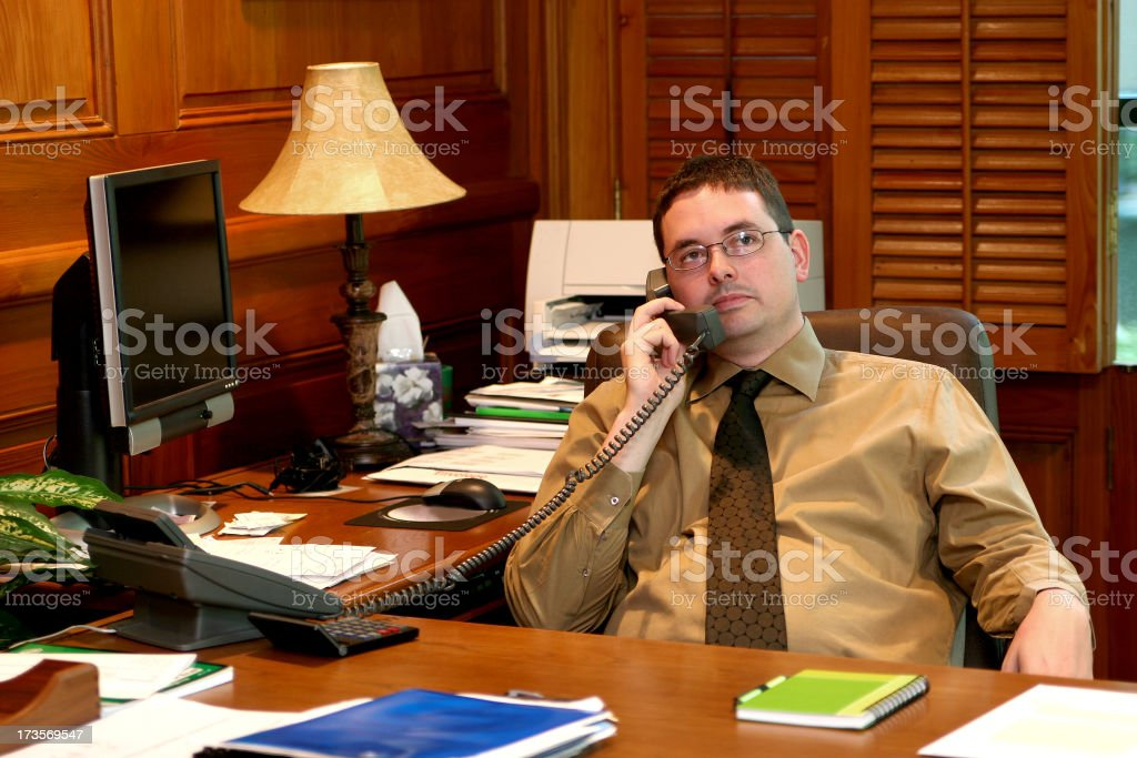 Business Series: Executive phone call. royalty-free stock photo