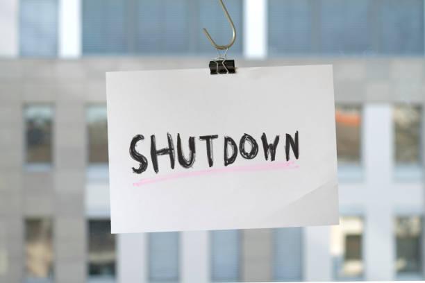 Business Shutdown Symbol, covid-19, Corona-Virus-Epidemie – Foto