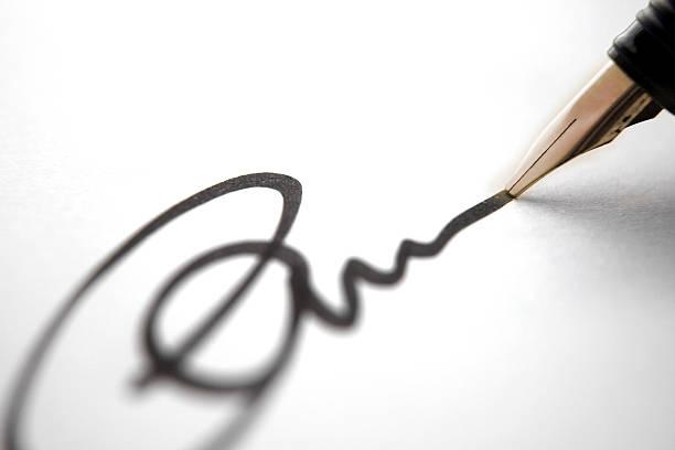 business charakteristischen - unterschrift stock-fotos und bilder
