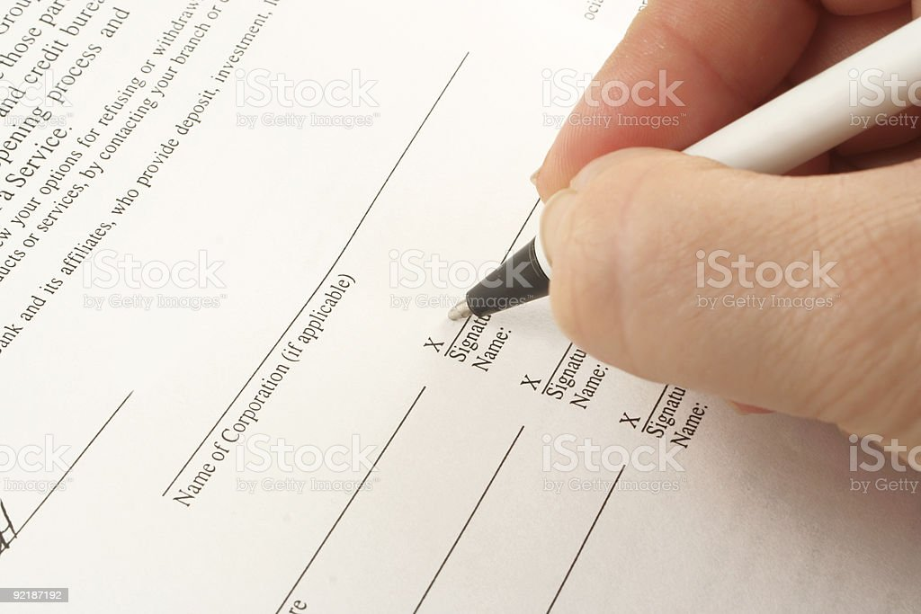 business signing royalty-free stock photo