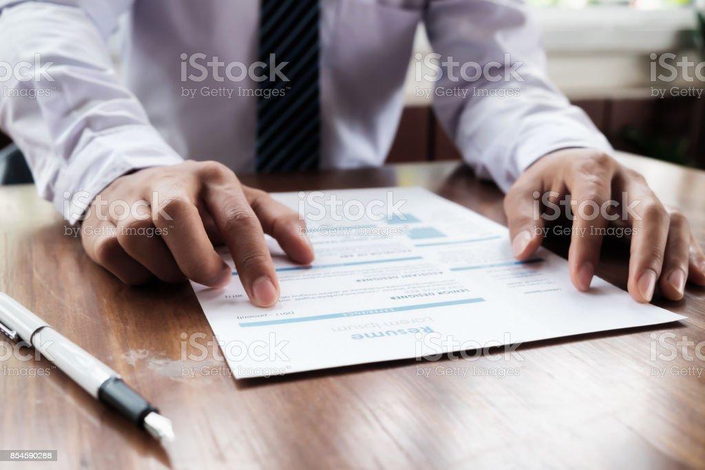Geschäftslage, Job Interview Konzept. – Foto