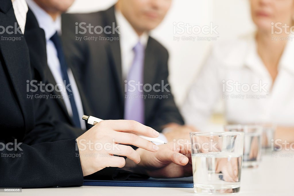 Business situation - team in meeting royalty-free stock photo