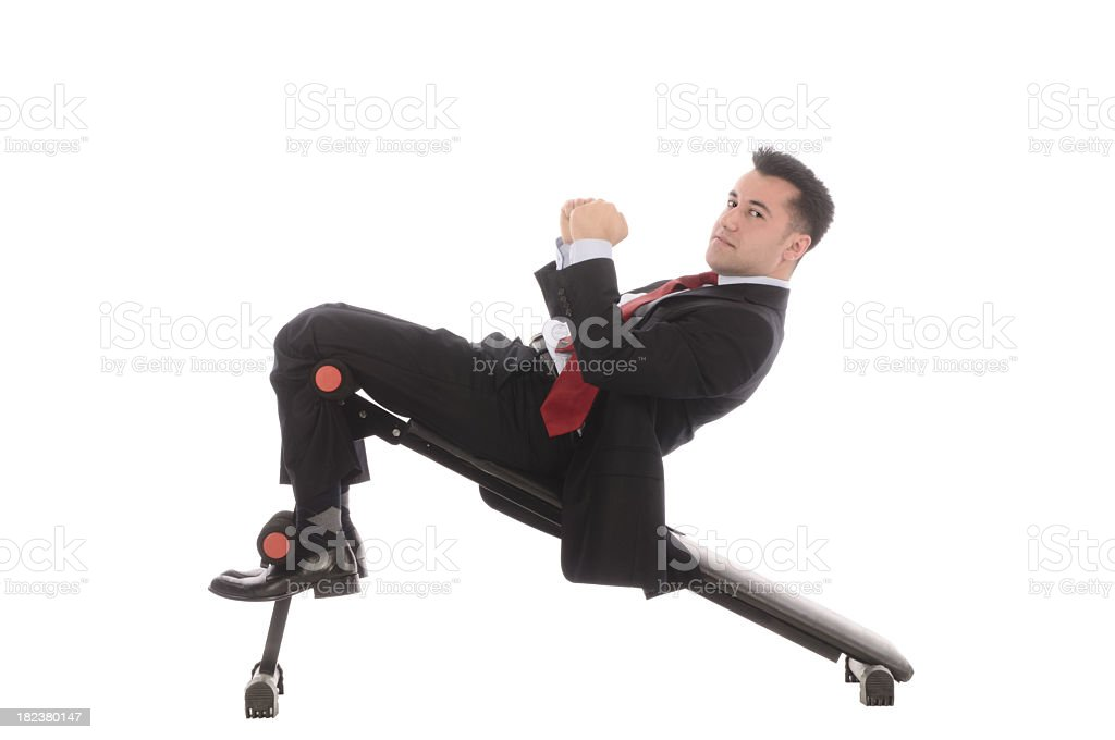 Business Sit-up royalty-free stock photo