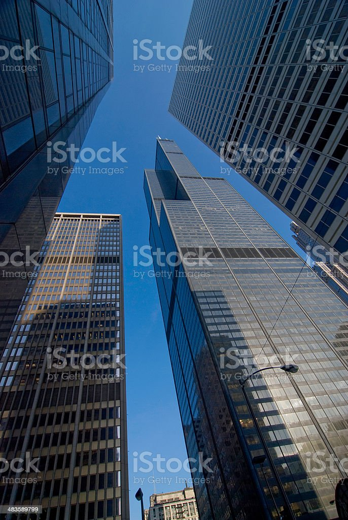 Business Skyline in Chicago stock photo