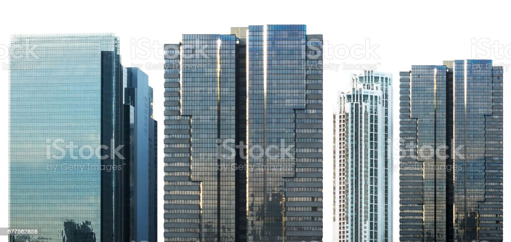 business skyscraper isolated on white background with dicut paths royalty-free stock photo