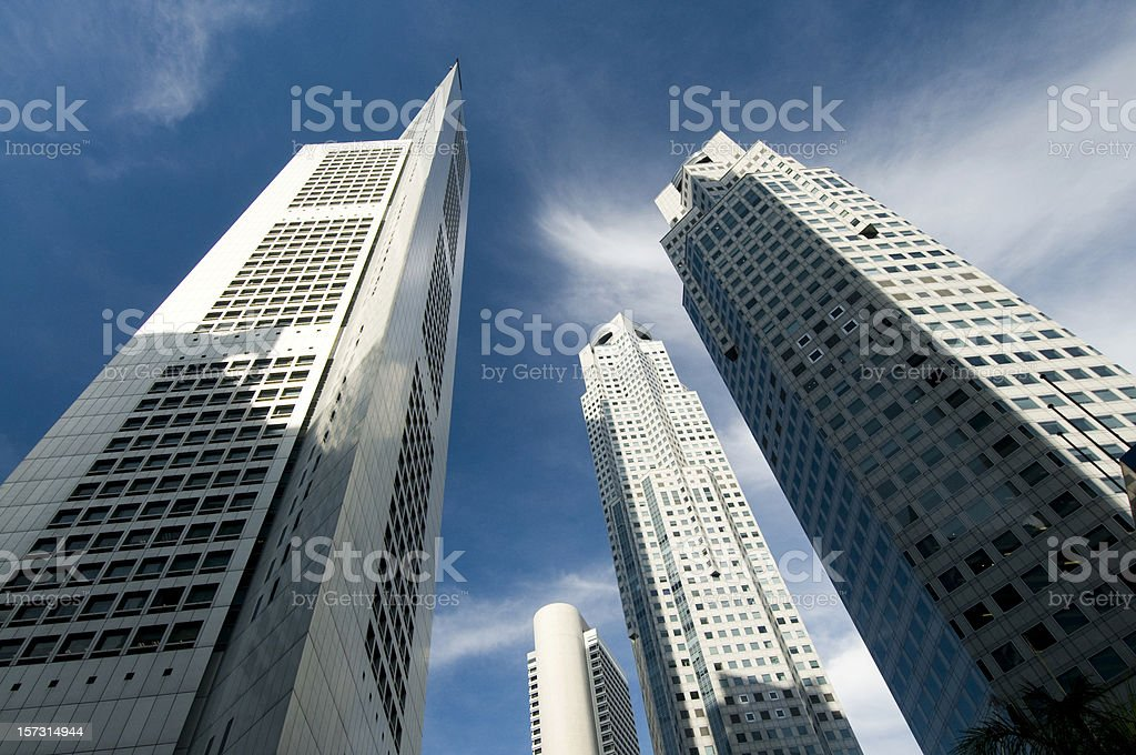 Business Skyscrapers in Singapore. royalty-free stock photo