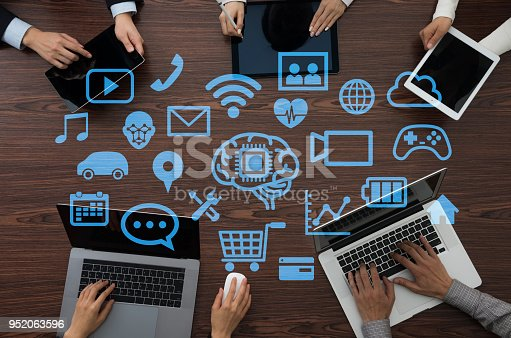 istock Business software concept. AI. Artificial Intelligence. 952063596