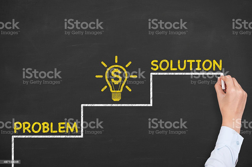 Business Solution Finance Concept stock photo