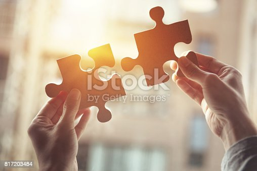 istock Business solutions, success and strategy concept 817203484