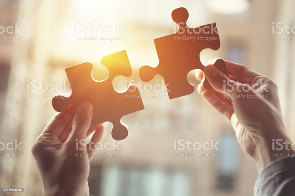 Business solutions, success and strategy concept stock photo