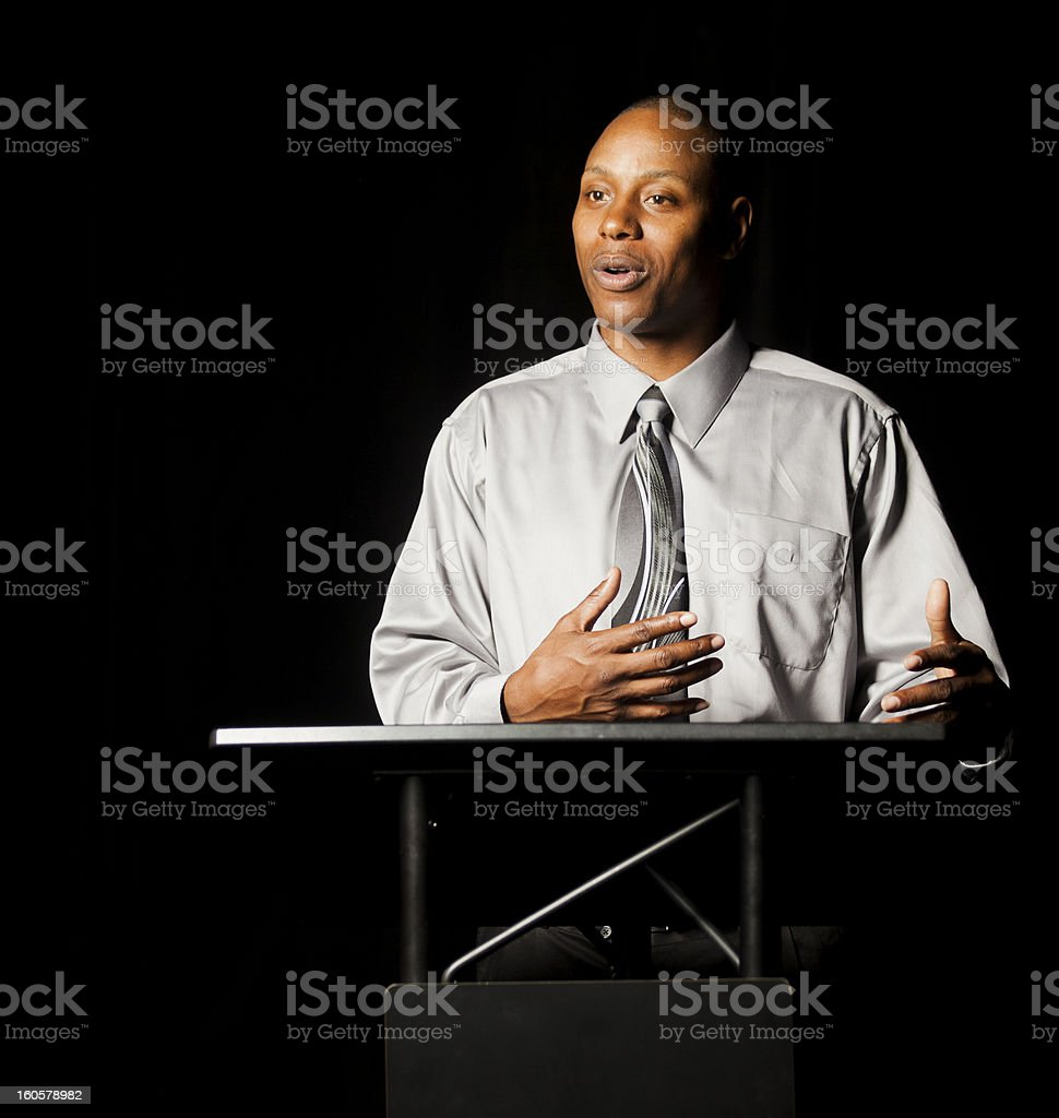 Business Speaker stock photo