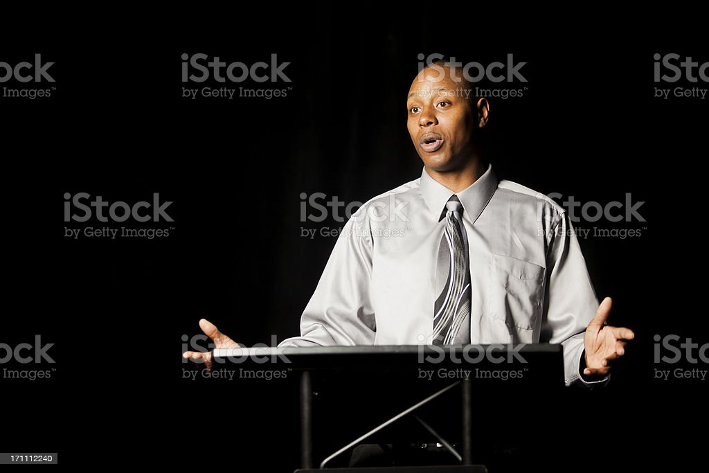 Business Speaker stock photo
