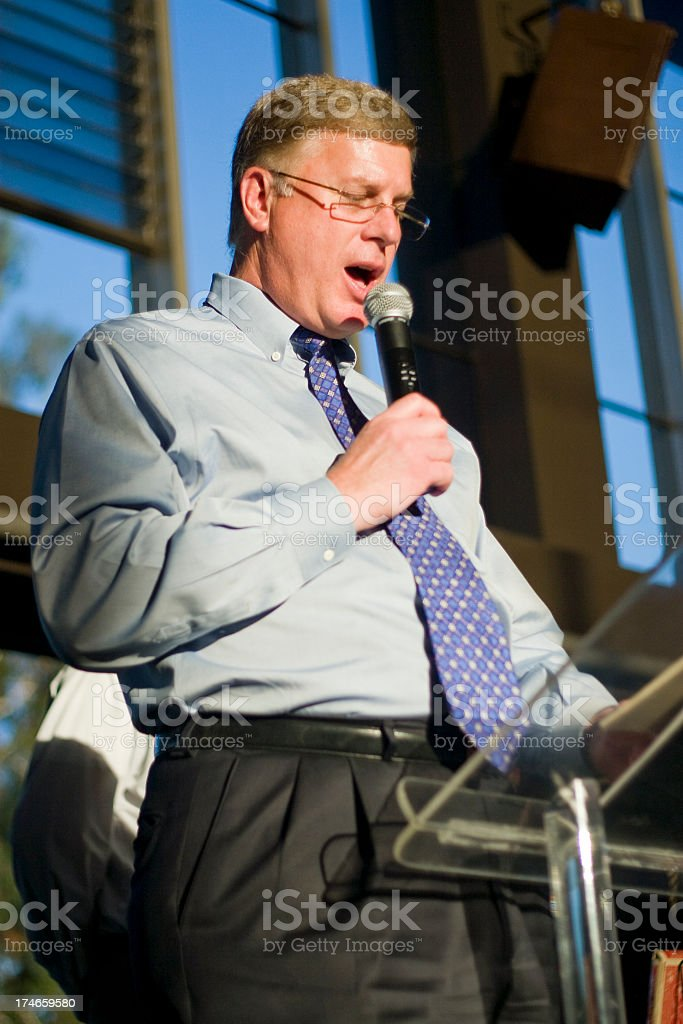 Business Speaker royalty-free stock photo