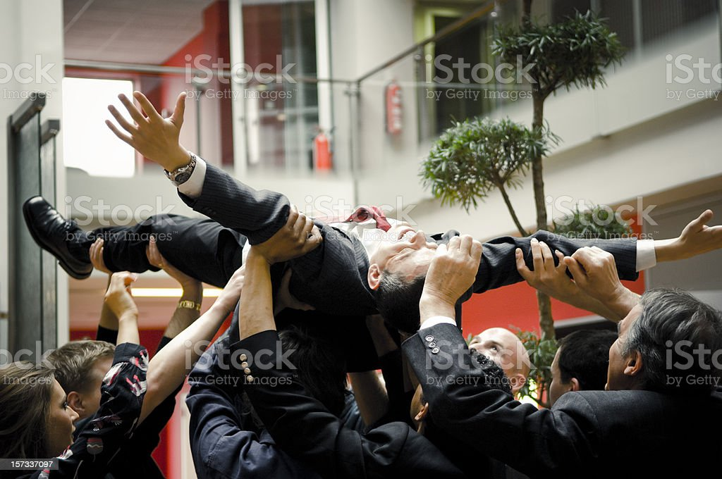 Business Stage Diving royalty-free stock photo