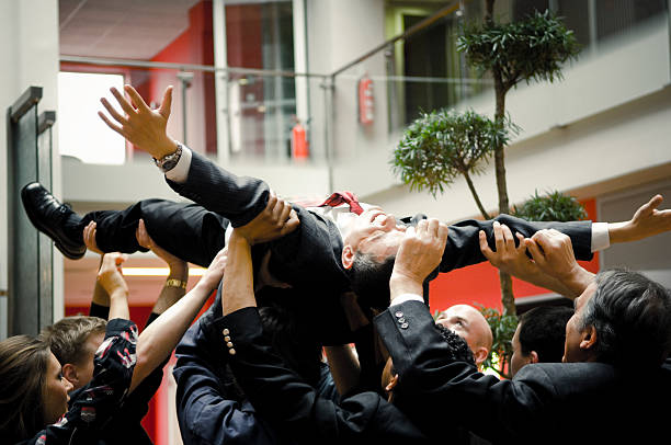 Business Stage Diving stock photo