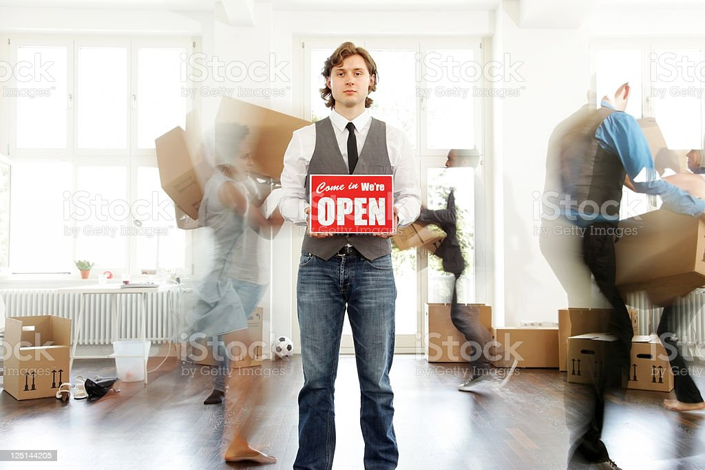 Business start up open for business royalty-free stock photo