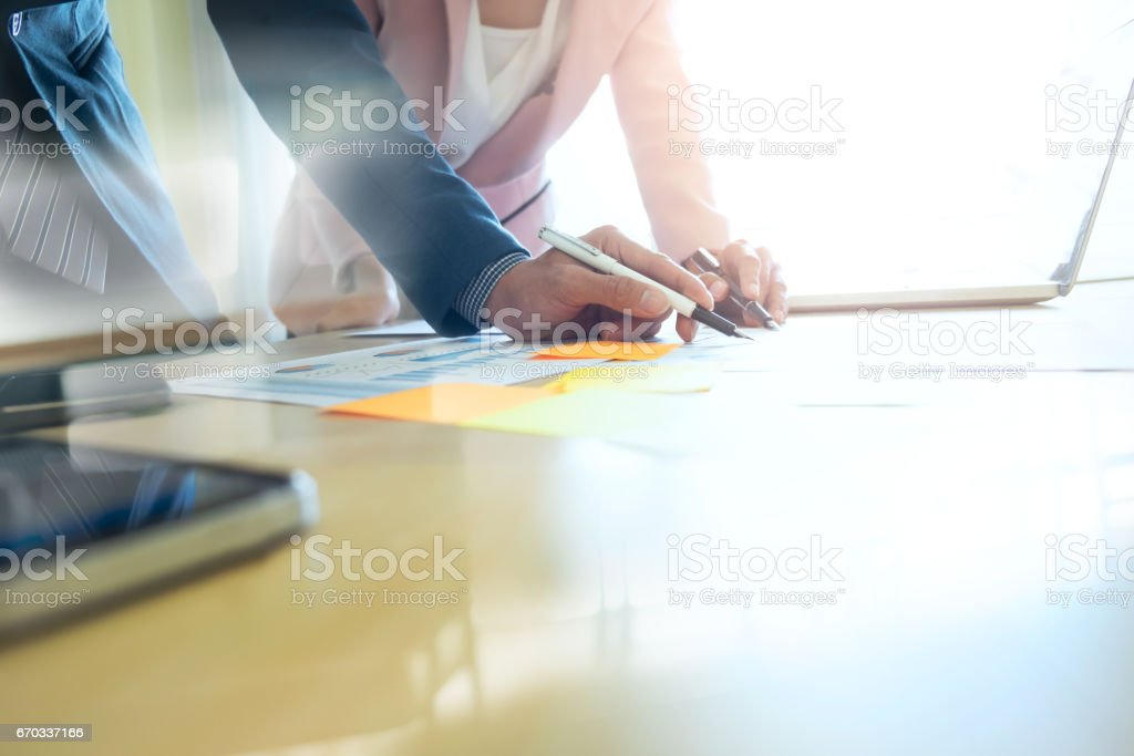 Business startup analyse and plaing the of business strategy . stock photo