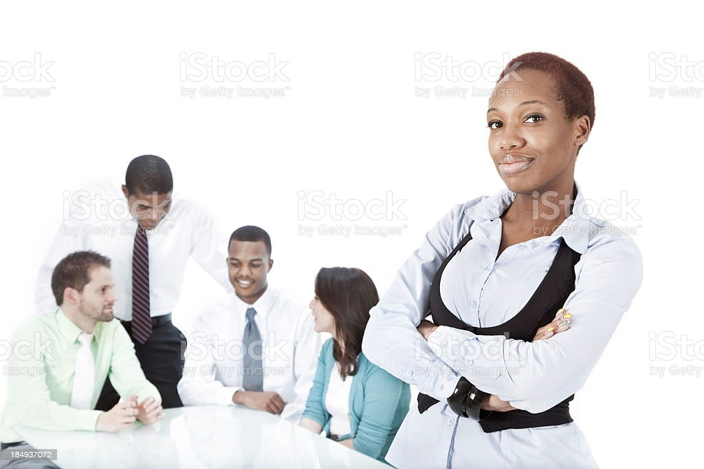 Business Start-Up CEO and Her Team royalty-free stock photo