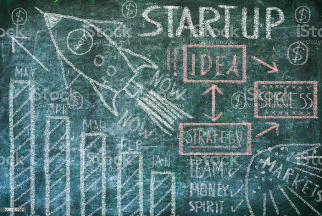 business Startup concept Lizenzfreies stock-foto