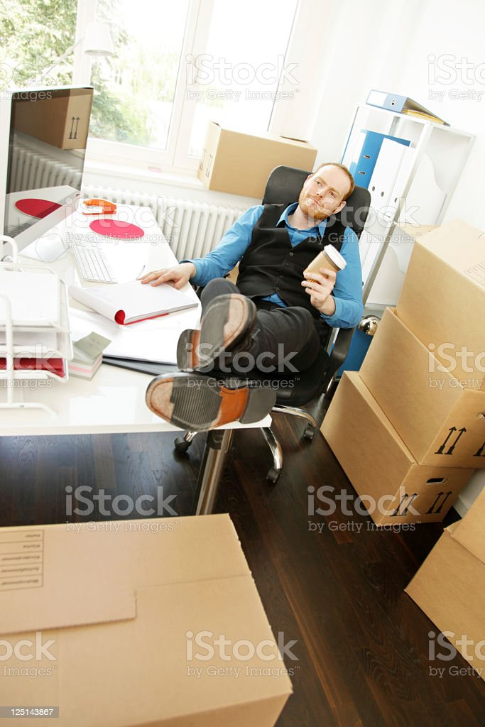 Business Start-up, dreaming of the first Job royalty-free stock photo
