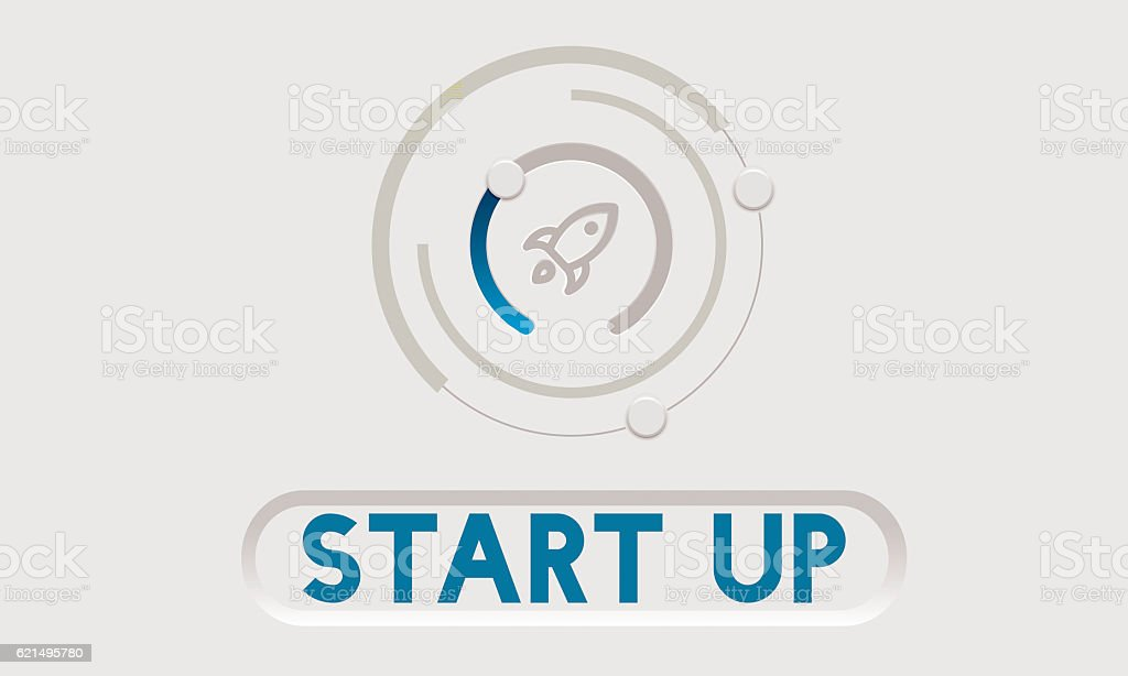 Business Startup Launch Strategy Vision Concept photo libre de droits