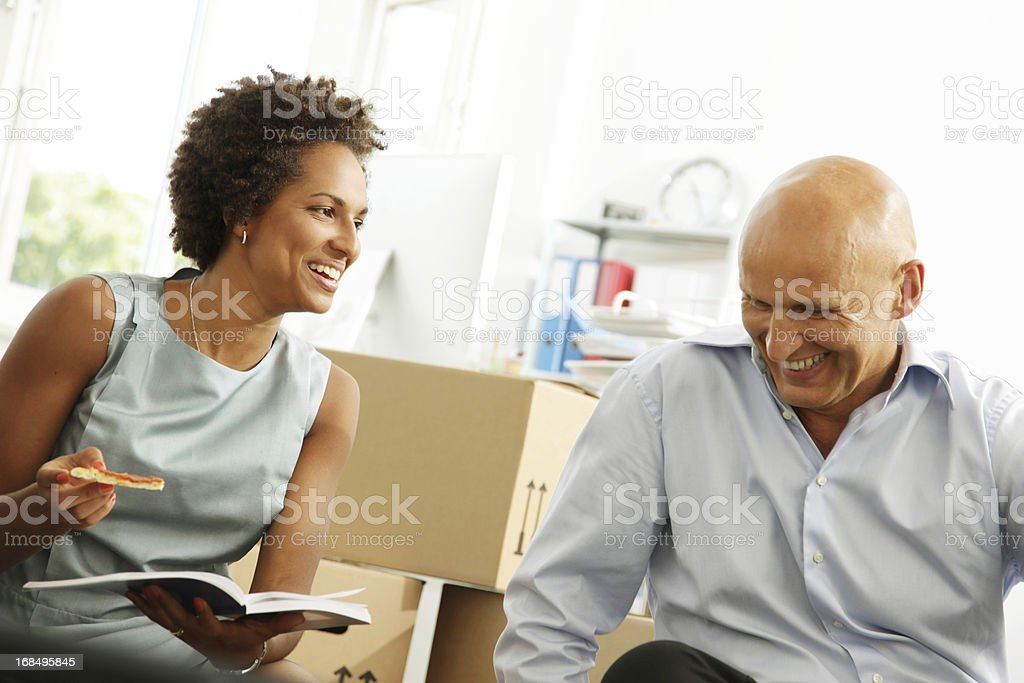 Business Start-up, Lunch Meeting - Close-up stock photo