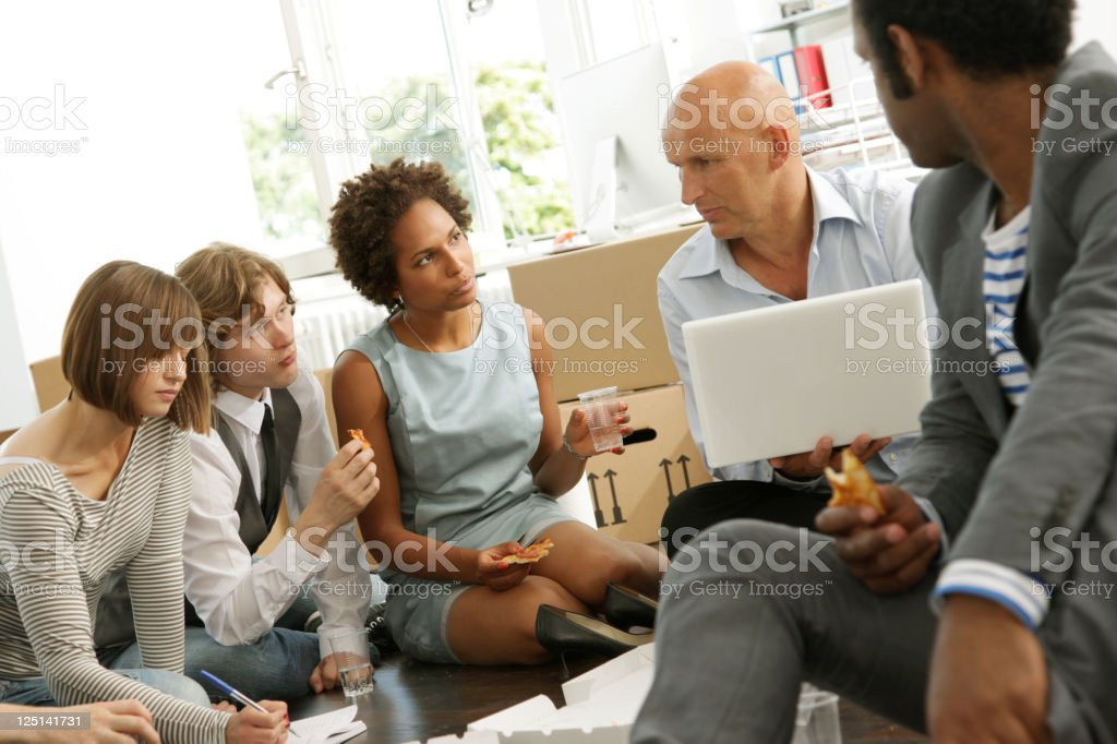 Business Start-up, Lunch Meeting royalty-free stock photo