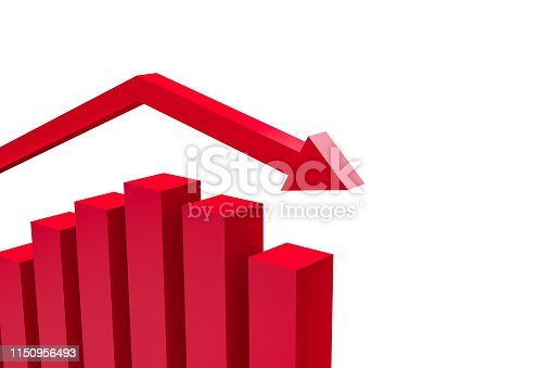 1149620931istockphoto Business Statistic Fail of Graph Chart 1150956493
