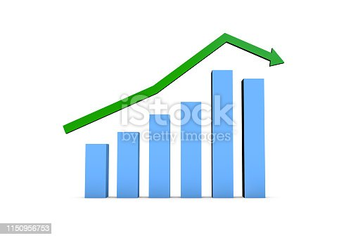 istock Business Statistic Fail of Graph Chart 1150956753