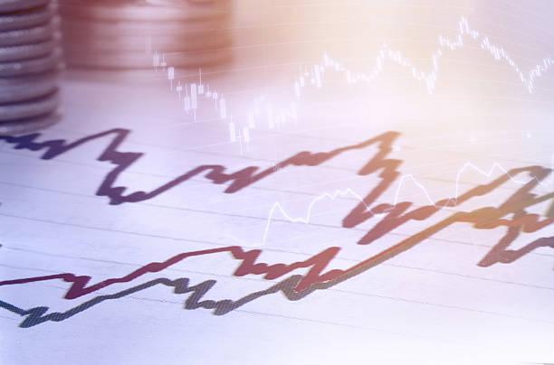 business statistics and analytics multiple exposure. - inflation stock-fotos und bilder