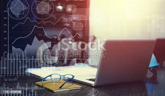 913603748 istock photo Business statistics concept. Financial planning. 1161459596