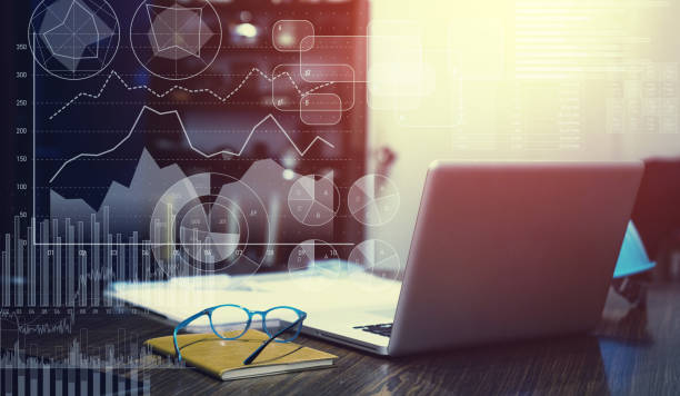concepto de estadísticas de negocio. planificación financiera. - planificación financiera fotografías e imágenes de stock
